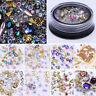 Mix Glitter 3D Nail Art Rhinestones Coloful Acrylic Manicure Stickers Decoration