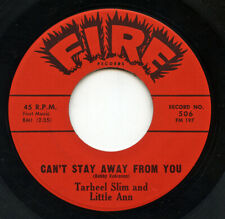 New ListingRare R&B / Soul 45 - Tarheel Slim & Little Ann - Can't Stay Away From You - Fire