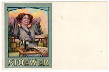 POSTCARD GERMAN STOEWER SEWING MACHINE ADVERTISING