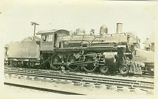 Vintage CM&StP-Milwaukee #2707 a 4-6-0 loco at Davenport Iowa  b&w photo