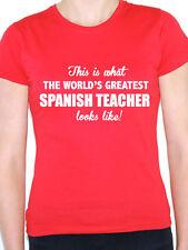 WORLDS GREATEST SPANISH TEACHER - Spain / Novelty Themed Women's T-Shirt