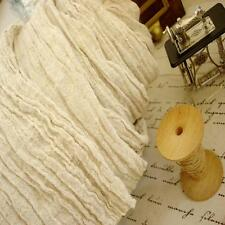 Shabby Chic Distressed Crinkle Semi-Sheer Whisper Linen Fabric Natural Rustic