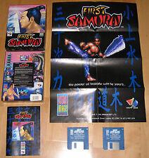 First Samurai - Vivid Image Works 1991 - RARE Atari ST Game BIG BOX with POSTER