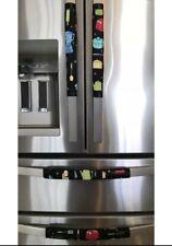 Refrigerator Door Handle Covers Set of 4 Kitchen Appliances Theme 13L X 5W