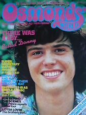 OSMONDS WORLD MAGAZINE ISSUE 24 OCT 1975 - (INC OSMONDS POSTER!)