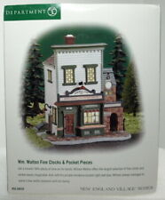 "Dept 56 New England Village ""Wm. Walton Fine Clocks & Pocket Pieces "" Brand New"