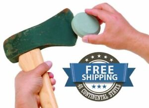 Dual Grit Round Puck Sharpener Knife Sword Axe Cleaver Blade s Sharpening Stone