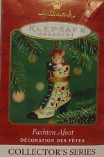 "Hallmark  Dated  ""2001""   ""FASHION AFOOT""  ""2nd""  in Series Hinged BOX  Ornament"