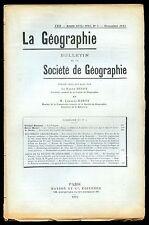 GEOGRAPHIE POLOGNE SEISME EN AFRIQUE AOF RAPIDES CAPATI