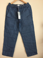 Country Road Trenery Womens Ladies Indigo Sporty Pant Lyocell/linen 12