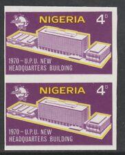 Nigeria 3887 - 1970 Nuevo Upu HQ 4d IMPERF par Menta desmontado