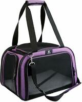 X-ZONE PET Pet Carrier for Dog and Cats, Airline Approved Soft-Sided Pet Travel
