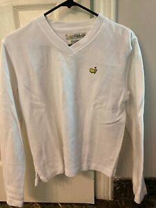 Magnolia Lane Masters White Knit V-Neck Pullover Sweater Women's Size Small