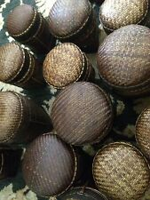 Rare 4 Ea Ethnic Ifugao Hand Woven Basket With Cover For Gift Or food Basket