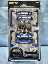 XMT014 XMODS SUPER STREET BLUE HONDA CIVIC RC CAR CUSTOM BODY KIT SPARCO TOY