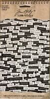 Tim Holtz Idea-ology ChitChat words - Chit Chat word stickers white black