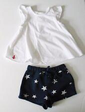 Ralph Lauren Baby Girls Flutter Sleeve Top & Printed Shorts Set Sz 6M - NWT