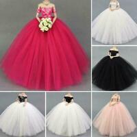 Fashion Doll Dress Costume Elegant Wedding Dress For 11.5'' Dress Doll A3U4