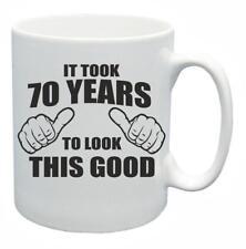 70° novità regalo di compleanno Tazza da tè IT TOOK 70 ANNI IN LOOK THIS GOOD