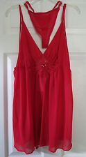 SEXY RED  BABY DOLL WITH THONGS NEW WITH TAGS SIZE L