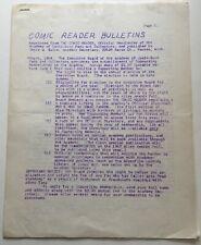 1964 Comic Reader Bulletins   Jerry Bails Comic Fanzine
