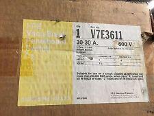 ITE SIEMENS V7E3611 30A 3P 600V Twin Fused Vacu-Break Panelboard Switch Surplus
