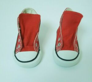 Infant Boys Converse All Star Chuck Taylor Red High Top Tennis Shoes Size 2