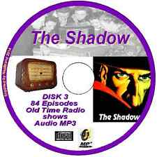 The Shadow - crime-fighting vigilante - 226 Old Time Radio Shows  Audio MP3 3CDs