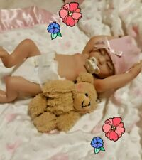 REBORN   GIRL BABY   REAL GIRL  10 INCH  WITH HEART PACIFIER TINY bear❤💗