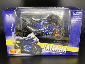 SEALED 2004 Maisto Yamaha Valentino Rossi Factory Racing Team 1:18 Motorcycle