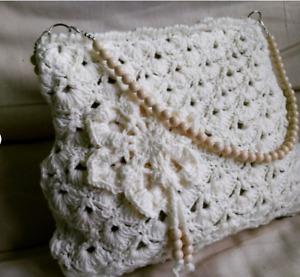 Handmade crochet handbag, crochet purse, shoulder bag,