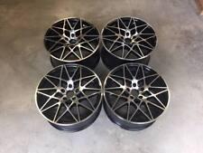 """20"""" ruedas de estilo de competencia 666M M4 Negro Brillante mecanizado BMW E90 E91 E92 E93"""