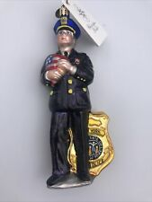 New ListingChristopher Radko Nypd America's Finest New York Police Glass Xmas Ornament Tags