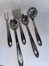 All-Clad Stainless Kitchen Utensils -Spoon, Slotted Spoon, Spatula, Fork & Ladle