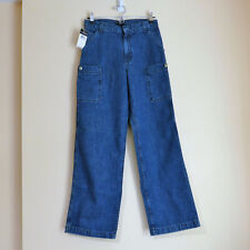 NEW Ralph Lauren Polo Jeans Co Boys Denim Cargo Jeans, Size 16