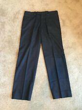Hermes Men's Striped Wool Trousers in Charcoal Grey Size IT 44 Dress Pants