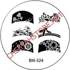 Stamping plaque Bundle Monster BM324 pour vernis ongles