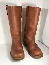 Sz 10.5D Mens Vtg Leather Brown Sears Campus Cowboy Boots Usa