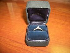 Tiffany & Company Diamond Platinum Ring with Diamonds on the Band