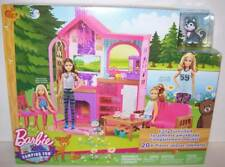 Barbie Camping Fun Fully Furnished Kitchen Table Chairs Sofa Cat NEW
