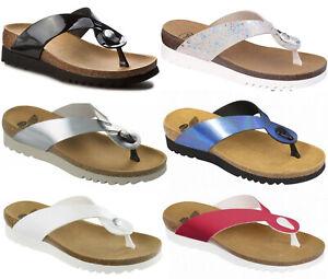 DR SCHOLL KENNA BIOPRINT sandali infraditi zoccoli tacco donna zeppa pelle mare