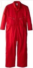 Taylor Walls Work Twill Coverall Jumpsuit Size 48 New with Tags Color Safety Red