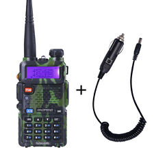 BaoFeng Camouflage UV-5R  ham 2 way radio Walkie Talkie + Car Charger Cable