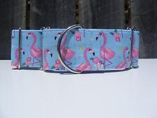 Flamingo - Martingale Dog Collar - Greyhound, Sighthound