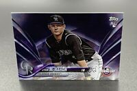 Ryan McMahon RC 2018 Purple Topps Opening Day Rookie Card #115- Colorado Rockies