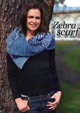 ~ Knitting Pattern For Lady's Stunning Zebra Stripe Scarf & Pretty Lacy Socks ~