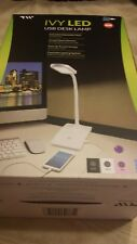 Ivy Led Office Computer Table Desk Lamp With USB Charging Port purple color
