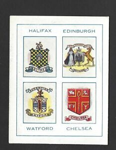 THOMSON - FOOTBALL TOWNS AND THEIR CRESTS - HALIFAX, EDINBURGH, WATFORD, CHELSEA
