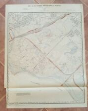ANTIQUE Map - City of Baltimore Topog. Survey - 1897 -Carroll Park Area/Southern