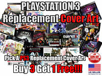 PS3 PlayStation 3 Replacement Game Cover Art Box Art